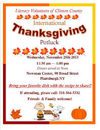 thanksgiving potluck sign up sheet thanksgiving potluck literacy volunteers of clinton county