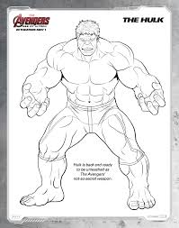 Free Printable Avengers Age Of Ultron Coloring Sheets Hispana Global