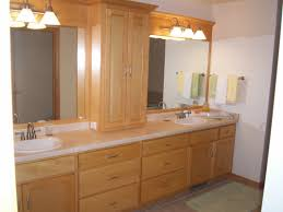 Glass Bathroom Cabinets Solid Oak Bathroom Furniture