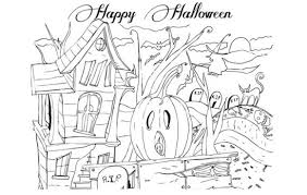 Small Picture Happy Halloween Coloring Adult Happy Halloween Coloring Pages