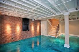 Basement ideas basement features a fun entertaining area with wet bar and a large custom table island wall paint color is sherwin williams sw 7070 site white basement ideas basement. 30 Perfect Basement Concrete Floor Paint Color Ideas Gongetech
