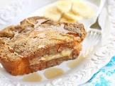baked banana stuffed french toast