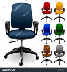 colored office chairs. Set Of Office Chairs Different Color. Vector Illustration Colored