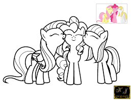 Small Picture Fabulous My Little Pony Pinkie Pie Coloring Pages With Color Pages
