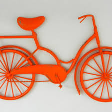 orange bicycle wall art outdoor metal wall art metal bike art orange beach on retro outdoor metal wall art with best metal bike wall art products on wanelo