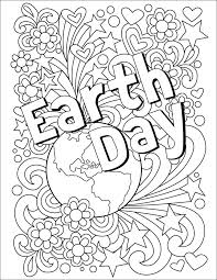 Small Picture Earth Day Coloring Page April 22 Earth and Doodles