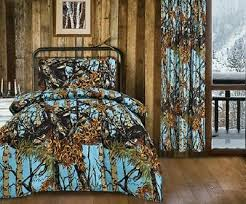 powder blue camo twin bedding set