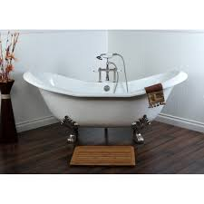 Double Slipper 72-inch Cast Iron Clawfoot Bathtub - Free Shipping Today -  Overstock.com - 15429997