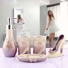 Novelty High Heels 5pcs Bathroom Accessories Set Modern Lady Sets ...
