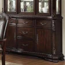 dining room dining room table from crown mark 920 03 kiera traditional buffet with 5 drawers and 2 doors