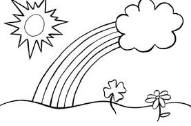 Small Picture A Classic Kids Drawing of a Day with the Rainbow Coloring Page