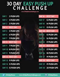 30 Day Easy Push Up Challenge Challenges 30 Day Workout