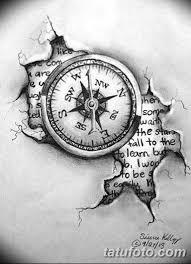 тату компас эскизы мужские 09032019 010 Tattoo Sketches