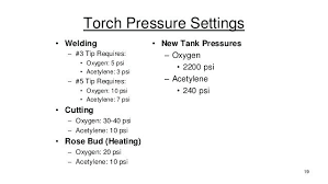 Oxy Acetylene Torch Settings Propane Cutting Victor Tip Size