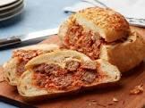 baked meatball sandwich rounds