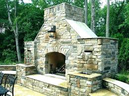 outdoor fireplace with pizza oven plans and combination combo f
