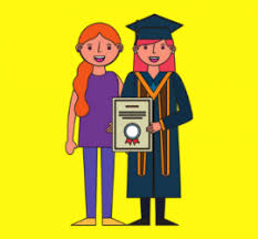 Image result for mother daughter graduation cartoon