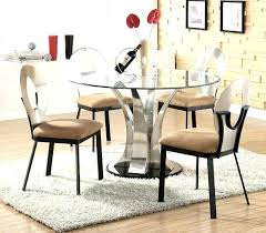 sensational inspiration ideas round glass dining table set modern image of le extendable interior home design