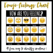 Emoji Feelings Chart Printable Emoji Feelings Chart