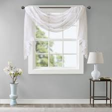 Madison Park Iris Diamond Sheer Embroidered Window Curtain Scarf - Free  Shipping On Orders Over $45 - Overstock.com - 23864061