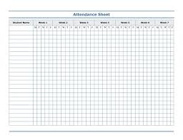 Free Printable Blank Attendance Sheets Attendance Sheet