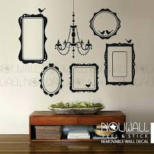 chandelier wall decal black