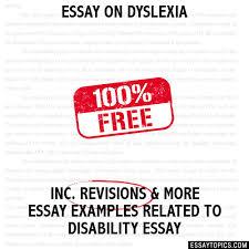 on dyslexia essay on dyslexia
