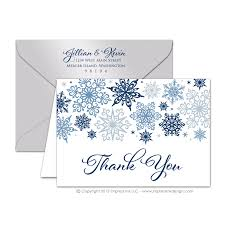 snowflake thank you cards snowflakes thank you cards impress ink stationery design studio