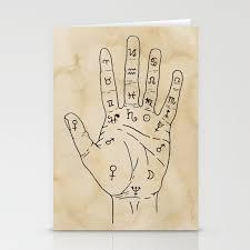 Palmistry Diagram Palm Reading Chart Palm Reading Guide Illustration Stationery Cards By Lapetitemesange