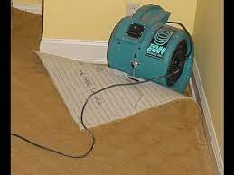 how to dry a flooded wet carpet water