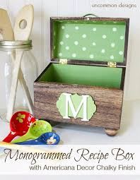 creative diy mothers day gifts ideas monogrammed recipe box thoughtful homemade gifts for mom