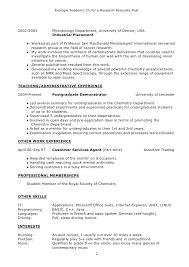 curriculum vitae biology student cv