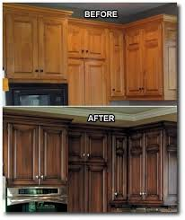 dark stained kitchen cabinets. Kitchen Updates. I Love That They Did A Dark Stain With An Antique Look Instead Of Just Painting Them White Like Everyone Else Is Doing! Stained Cabinets R