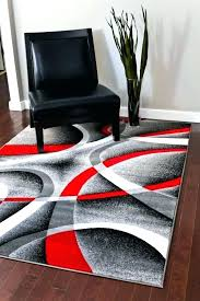 red rug bedroom com gray black white swirls 5 2 x 7 modern and 5x7