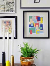 hang and enjoy on pictures into wall art with turn paint chips into geometric diy wall art hgtv
