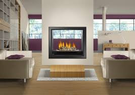 napoleon hd81 large see thru fireplace with great heat output open up your living space