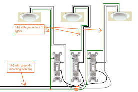 electrical how do i wire a 3 gang switch in my new bath? home 2 Gang Switch Wiring Diagram enter image description here 2 gang switch wiring diagram