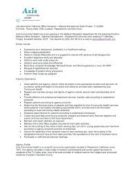 Medical Office Secretary Resume Examples Of Office Assistant