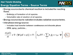 energy equation terms source terms
