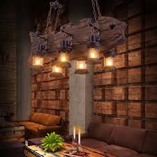 Led E27 Loft Industriellen Eisen Holz Led Lampe Led Licht