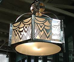 art deco reproduction lighting. art deco lighting. revival chandelier from lightolier. circa late 1960\u0027s to early 1970\u0027s. american. six sided design with frosted white shades and reproduction lighting z