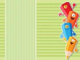 School Pencils For Children Powerpoint Design Backgrounds