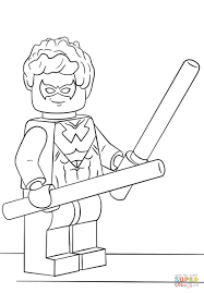 lego nightwing coloring page pics to color 8