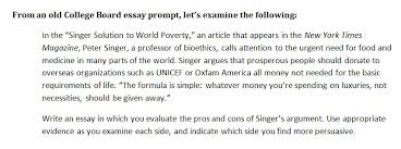 the singer solution to world poverty essay the singer solution to world poverty college thesis