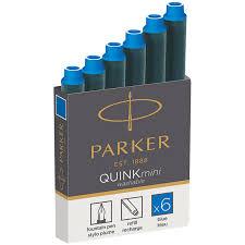 "<b>Картриджи чернильные</b> Parker ""Cartridge Quink Mini"" синие, 6шт ..."