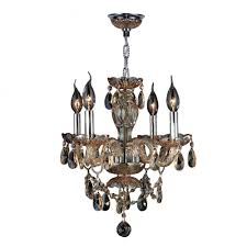 provence collection 4 light chrome finish and amber crystal chandelier 17 d x 18