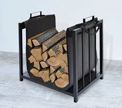 wooden basket with textile cover wood stove elegant modern practical easy storage 4164