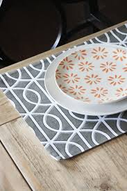 modern placemats grey squiggles set of