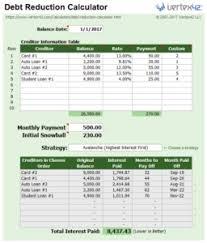 Excel Template Debt Reduction Calculator