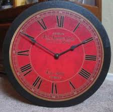 ... Large Red Wall Clock ...